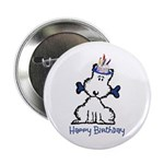 "Dog Birthday 2.25"" Button (100 pack)"