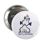"Dog Birthday 2.25"" Button"