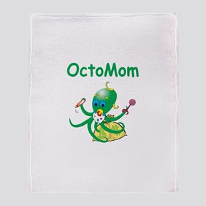 Octomom Greed Throw Blanket