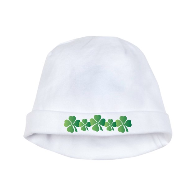 St Patricks Day Irish Clover Baby Beanie Hat by mainstreetshirt 37702b8d003