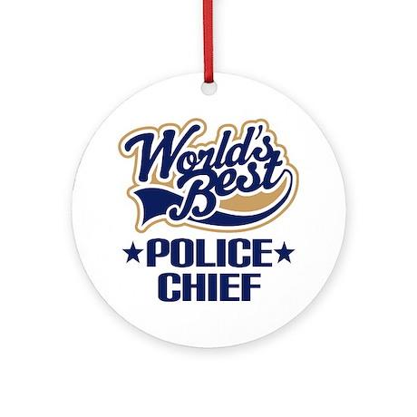 Police Chief Ornament (Round)