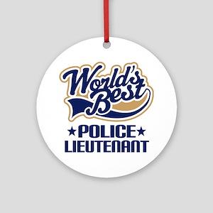 Police Lieutenant Ornament (Round)
