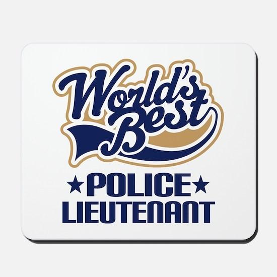 Police Lieutenant Mousepad