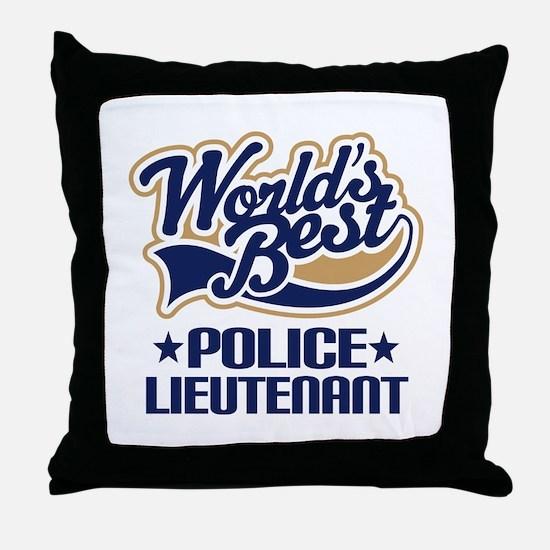 Police Lieutenant Throw Pillow