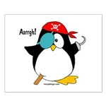 Pirate Penguin Small Poster