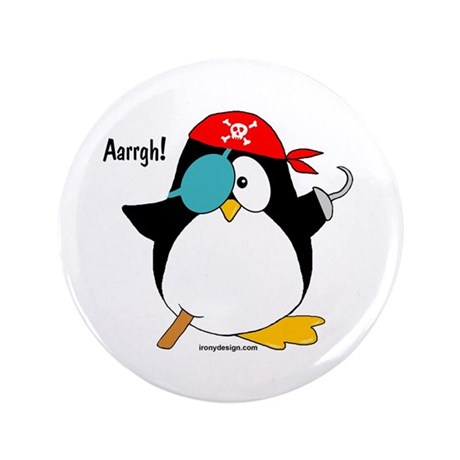 "Pirate Penguin 3.5"" Button"