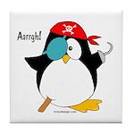 Pirate Penguin Tile Coaster