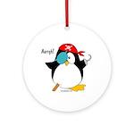 Pirate Penguin Ornament (Round)