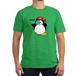 Pirate Penguin Men's Fitted T-Shirt (dark)