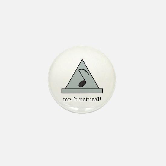 mr. b natural! Mini Button