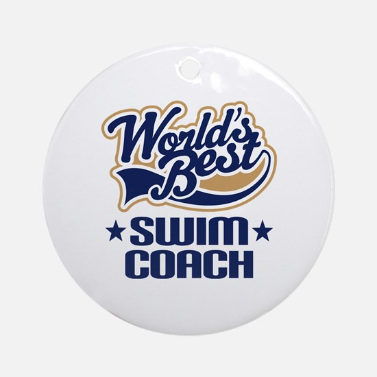 Swim Coach Ornament (Round)