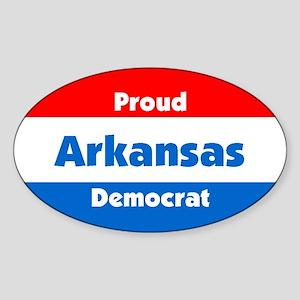 Proud Arkansas Democrat Oval Sticker
