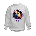 Stronger Than Cancer Kids Sweatshirt