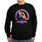 Stronger Than Cancer Sweatshirt (dark)