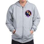 Stronger Than Cancer Zip Hoodie