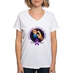 Stronger Than Cancer Women's V-Neck T-Shirt