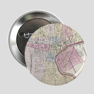 "Vintage Map of Newark NJ (1872) 2.25"" Button"
