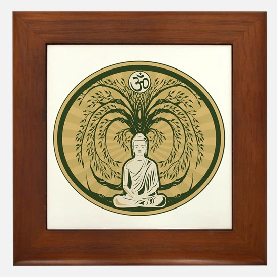 Buddha and the Bodhi Tree Framed Tile
