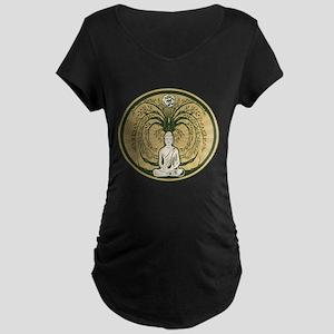 Buddha and the Bodhi Tree Maternity Dark T-Shirt
