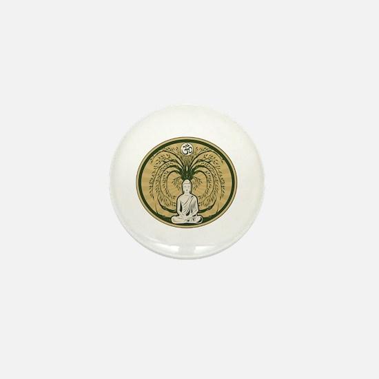 Buddha and the Bodhi Tree Mini Button