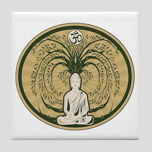 Buddha and the Bodhi Tree Tile Coaster