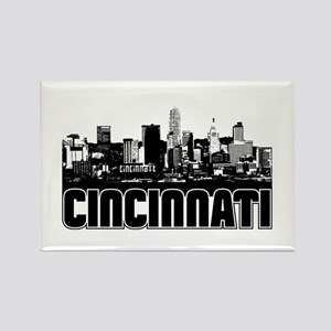 Cincinnati Skyline Rectangle Magnet