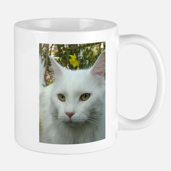 maine coon fourth white Mugs