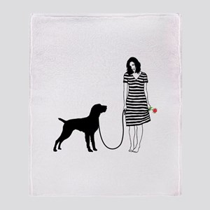 German Wirehaired Pointer Throw Blanket