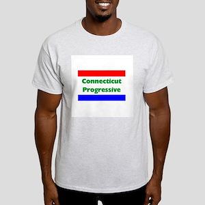 Connecticut Progressive Ash Grey T-Shirt