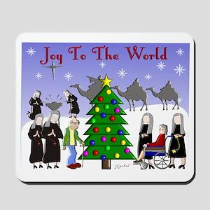 Catholic Nuns Christmas Mousepad