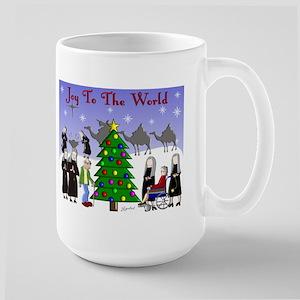 Catholic Nuns Christmas Large Mug