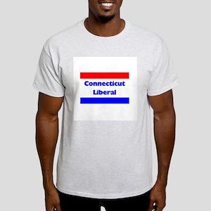 Connecticut Liberal Ash Grey T-Shirt