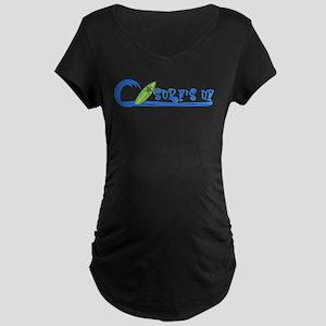Surf's Up Maternity Dark T-Shirt