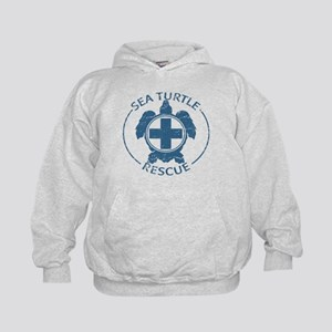 Sea Turtle Rescue Kids Hoodie