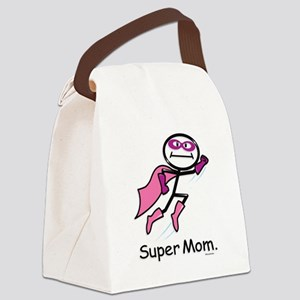 Mothers Day Super Mom Canvas Lunch Bag