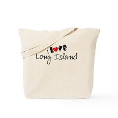 I Love Long Island Tote Bag