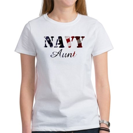 Navy Aunt Flag Women's T-Shirt