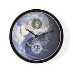 Yin-Yang World Music Clefs Wall Clock