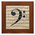 J. S. Bach Bass Clef Sheet Music Framed Tile