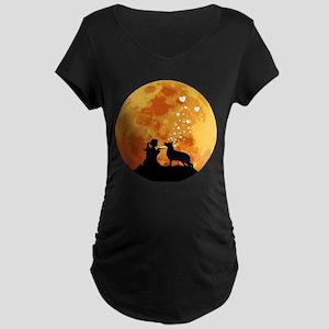 German Shepherd Dog Maternity Dark T-Shirt