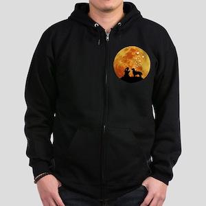 Flat-Coated Retriever Zip Hoodie (dark)