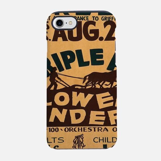 Vintage poster - Plowed Under iPhone 7 Tough Case