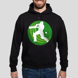cricket sports batsman Hoodie (dark)