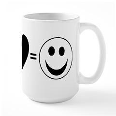 Peace + Love = Happy Large Mug