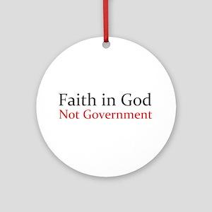 Faith in God Ornament (Round)