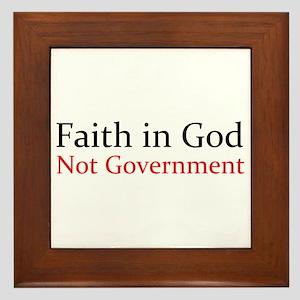 Faith in God Framed Tile