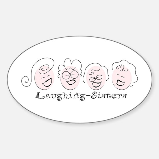 Laughing-Sisters Oval Decal