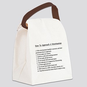 Approaching A Veterinarian Canvas Lunch Bag