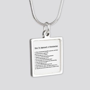 Approaching A Veterinarian Necklaces