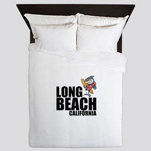 Long Beach, California Queen Duvet